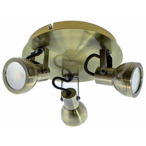 Plafón de techo Heli (3 luces)