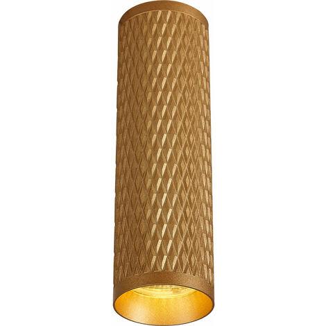 Plafón de techo Isabel 1 Bombilla Champagne Gold 29,5 Cm