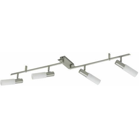 Plafón de techo lámpara de techo de salón de iluminación lámpara de pasillo de plata ajustable EGLO 89915