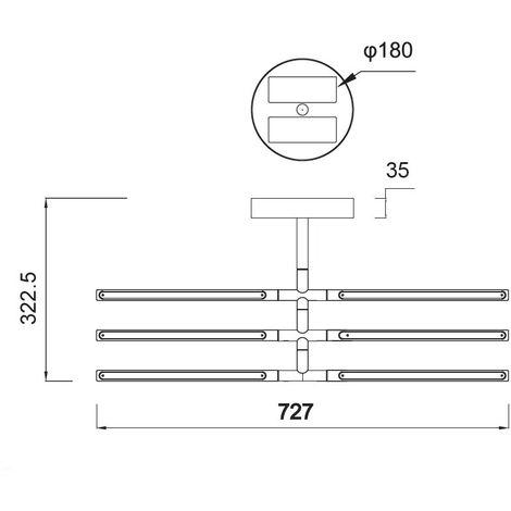 Plafón de techo LED Torch (36W)