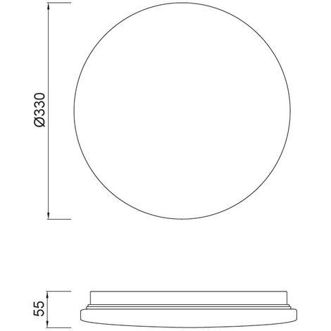 Plafón de techo LED Zero II (24W) | 3000ºK (blanco cálido)
