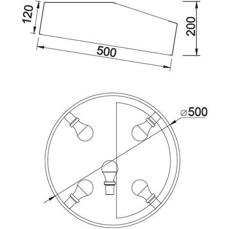 Plafón de techo Mini Circular II