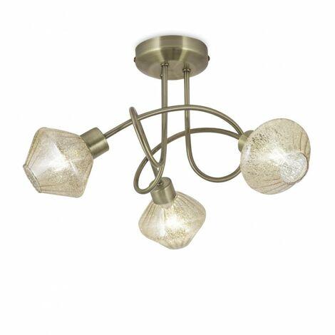 Plafón de techo Ozadi II (3 luces)