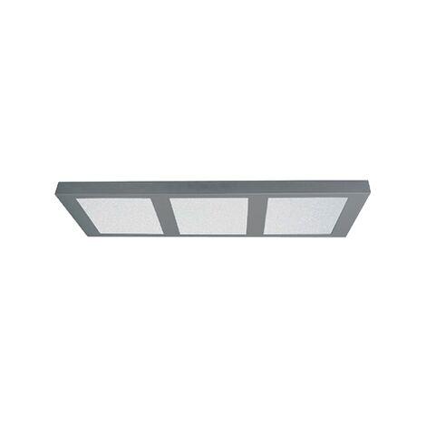 Plafón de techo rectangular para cocina de superficie led 3x18w | Blanco - 0