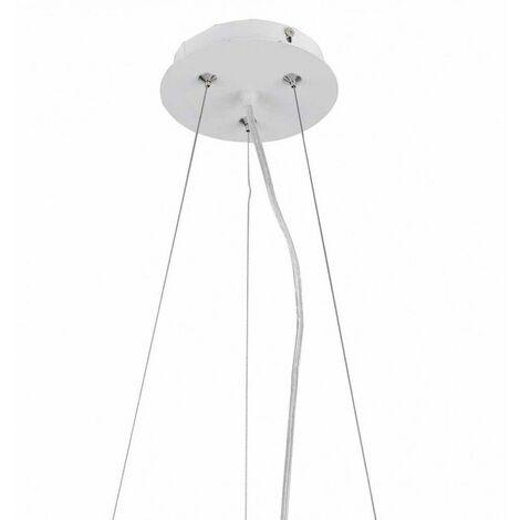 Plafón de techo redondo blanco Cumbuco | 80 cm 3000K plafón + kit