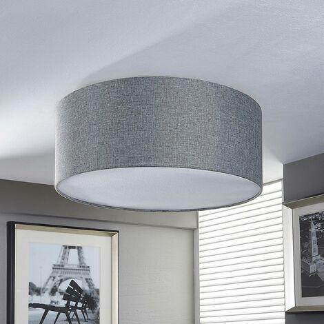 Plafón de telaPitta gris plata, aspecto de lino
