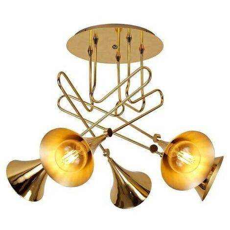 Plafon diseño trompetas JAZZ oro para salon
