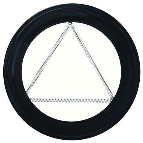 Plafon embellecedor estufa pellet vitrificado negro 80 mm.