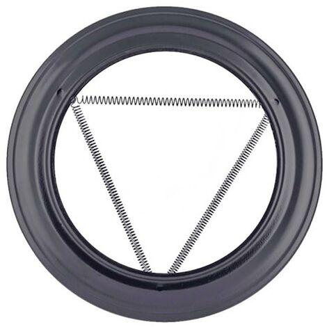 Plafon Estufa Pellet Ø80Mmx162Mm Acero Esmaltado Vitrificado Negro Exojo Pv080