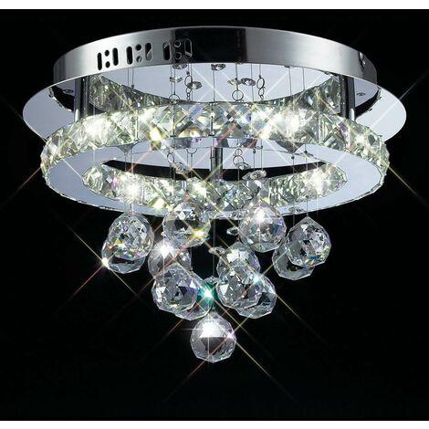 Plafón Galaxy redondo 16W LED 6000K cromo pulido / cristal