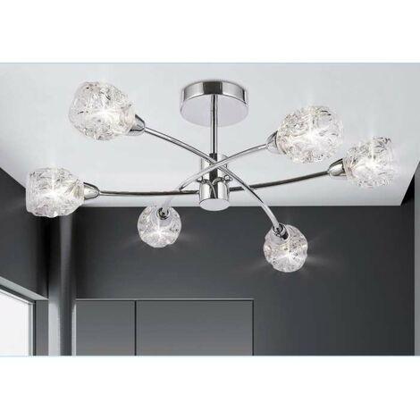 Lámpara de 5 luces Garbo cromo. Color Cromo