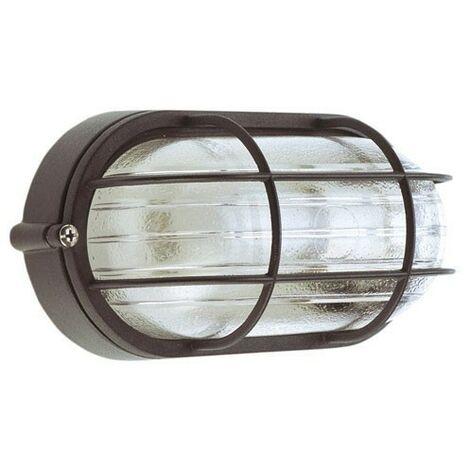 Plafón industrial ip44 oval negro