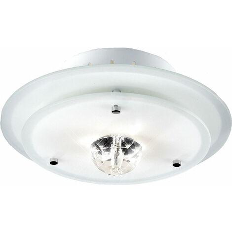 Plafón lámpara de techo de cristal redondo de metal con luz de iluminación Esto Diamantis 40115