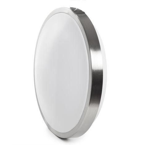 Plafón LED 15W 80Lm/W Plata Sensor Microoondas | Blanco Natural (JW-15W-L-W)