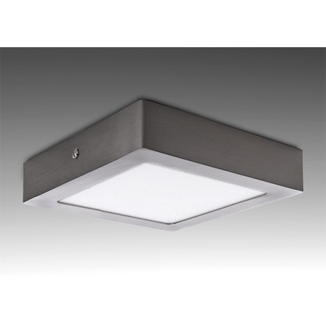 "main image of ""Plafón LED 18W 1.300Lm 6000ºK Cuadrado Niquel Satinado 50.000H [GL-PL SM18SN-CW] | Blanco Frío (GL-PL SM18SN-CW)"""