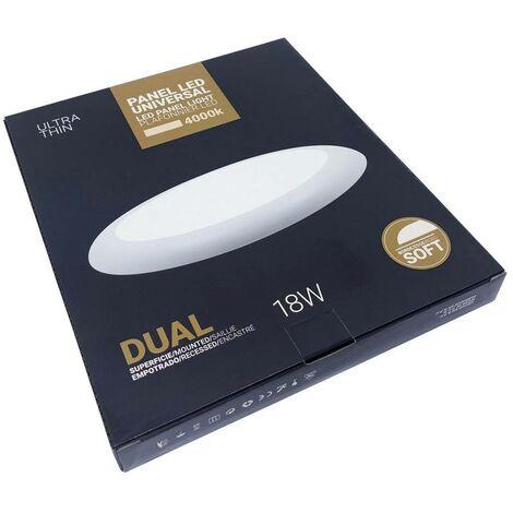 Plafón LED 18W diámetro ajustable para superficie y empotrable