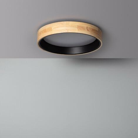 Plafón LED 20W Circular Dari CCT Seleccionable Negro