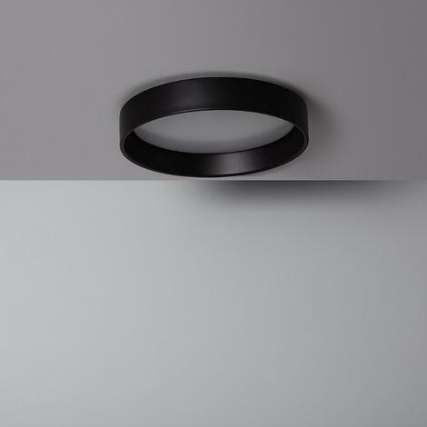 Plafón LED 20W Circular Design Negro CCT Seleccionable Seleccionable (Cálido-Neutro-Frío)