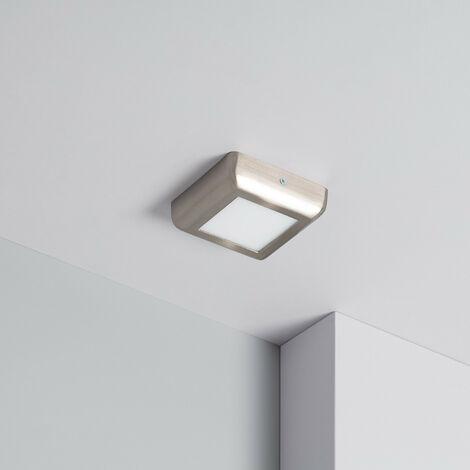 Plafón LED 6W Cuadrado Design Silver