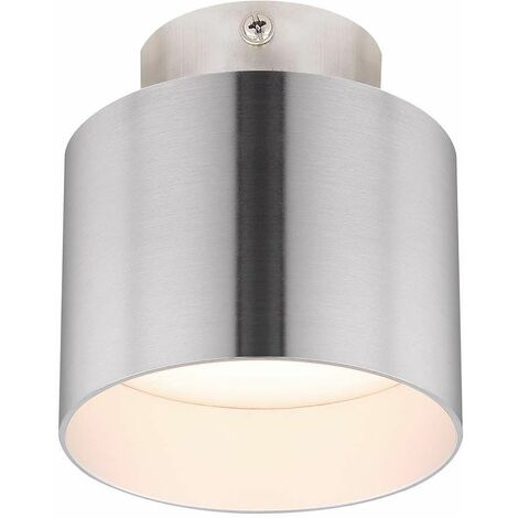 Plafón LED aluminio níquel claro mate 3 niveles de luz iluminación cocina