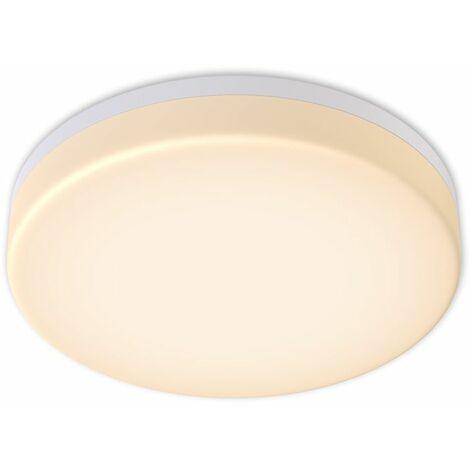 Plafón LED blanco/ Panel LED de 13W Lámpara de techo blanco LED Ø220mm IP 54 I Blanco neutro 3000K I Plafón para baño I Moderno I Redondo I 1500LM
