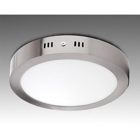 Plafón LED Circular Ø225Mm 18W 1300Lm 50.000H Niquel Satinado | Blanco Frío (GL-PL-SM18RN-CW)