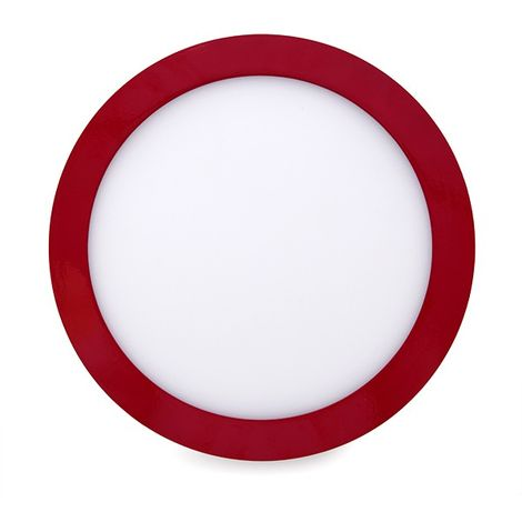 Plafón LED Circular Superficie Ø215Mm 18W 1450Lm 30.000H Rojo
