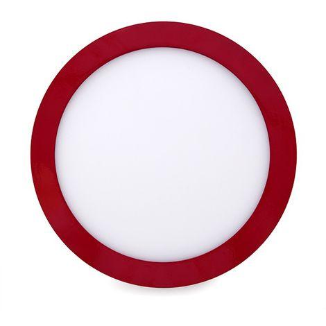 Plafón LED Circular Superficie Ø215Mm 18W 1450Lm 30.000H Rojo