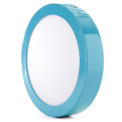 Plafón LED Circular Superficie Ø220Mm 18W 1450Lm 30.000H Azul