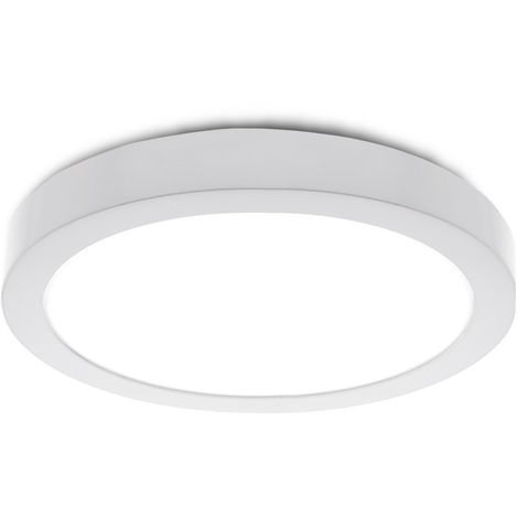 Plafón LED Circular Superficie Ø295Mm 24W 1900Lm 30.000H