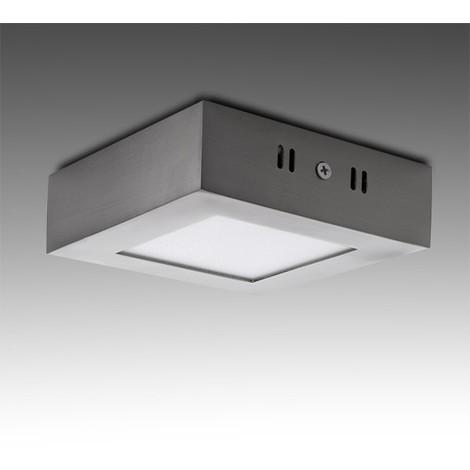 Plafón LED Cuadrado 120Mm 6W 430Lm 50.000H Niquel Satinado | Blanco Frío (GL-PL-SM6SN-CW)