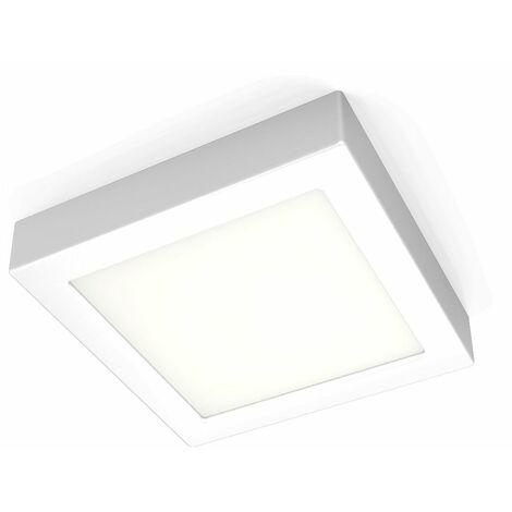 Pláfon LED cuadrado 12W I Downlight I Luz blanca natural 3000K 900lm I 170x32mm I Lámpara de techo de B.K.Licht
