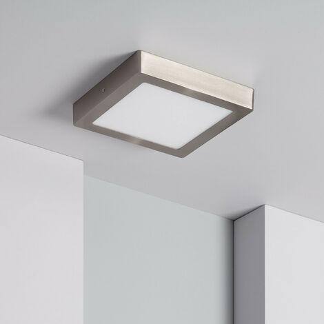 Plafón LED Cuadrado 18W Silver