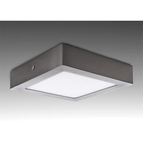 Plafón LED Cuadrado 225Mm 18W 1300Lm 50.000H Niquel Satinado | Blanco Frío (GL-PL SM18SN-CW)