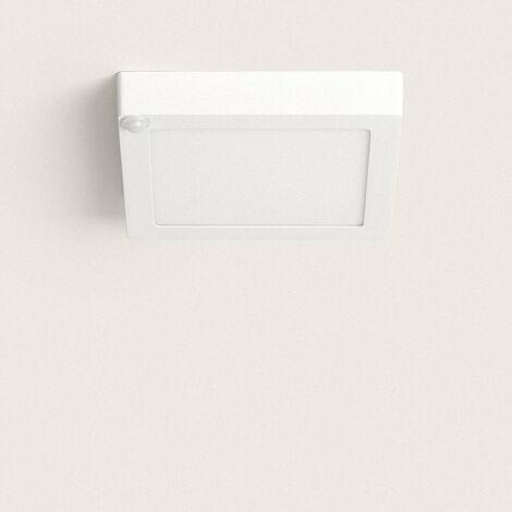 Plafón LED Cuadrado con Detector de Movimiento PIR 18W