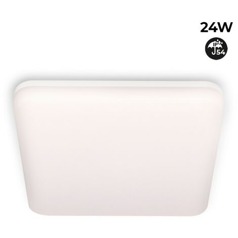 Plafón LED cuadrado de superficie 2640LM 24W IP54 estanco