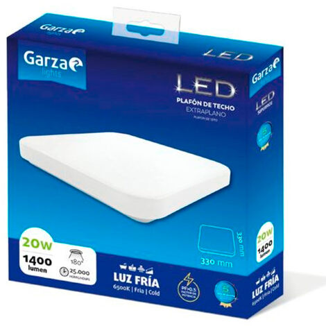 Plafón LED cuadrado de techo 20W 6500K 33cm
