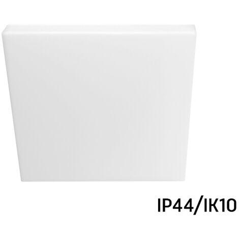 Plafón Led cuadrado IP44/IK10 resistente a humedad y polvo 18W 6000°K (Spectrum SLI031021CW)