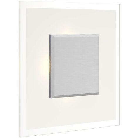 Plafón LED cuadrado Lole de vidrio