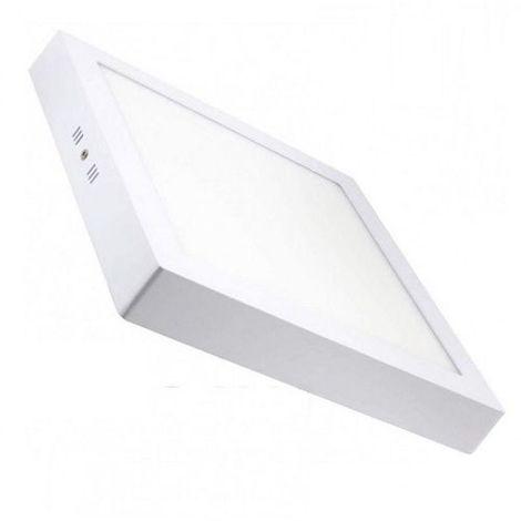 Plafon LED cuadrado Luz calida 18W