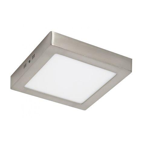 Plafón LED Cuadrado Níquel 24W