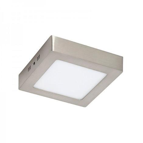 Plafón LED Cuadrado Níquel 6W