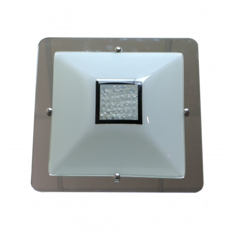 PLAFON LED CUADRADO SERENA Color Cromo
