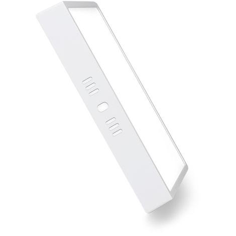 Plafón LED Cuadrado Superficie 20W Blanco 2000LM