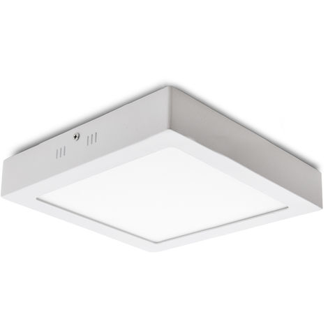Plafón LED Cuadrado Superficie 225Mm 18W 932Lm 30.000H