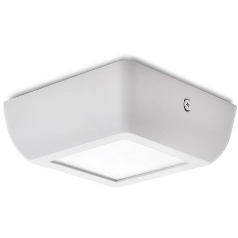 Plafón LED Cuadrado Superficie Style 120Mm 6W 470Lm 30.000H