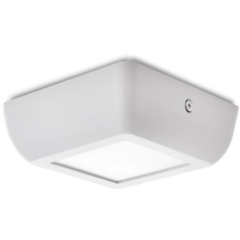Plafón LED Cuadrado Superficie Style 120Mm 6W 470Lm 30.000H