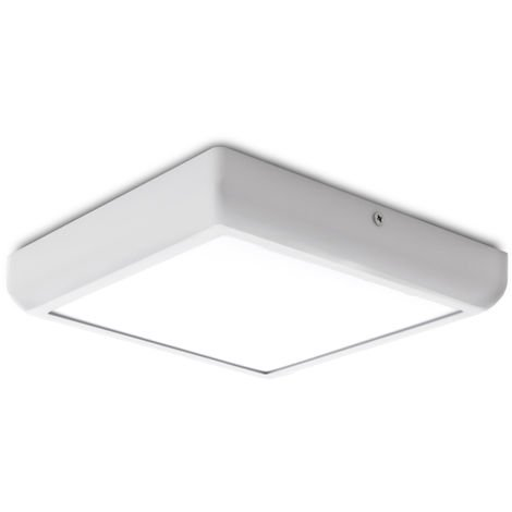 Plafón LED Cuadrado Superficie Style 225Mm 18W 1440Lm 30.000H