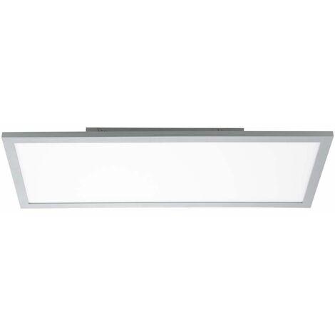 Plafón LED de construcción regulable Panel de techo LED Plafón de techo LED plano, construcción, plateado, 35 vatios 2800 lúmenes blanco cálido, H 7 cm, salón cocina