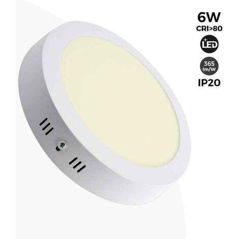 Plafón LED de superficie 6W 365lm - 5 años de garantía